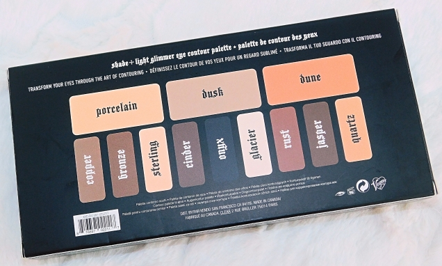 Kat Von D Shade + Light Glimmer Eye Palette_outer box back